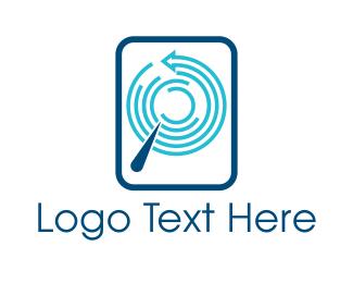 Fingerprint - Round Data logo design