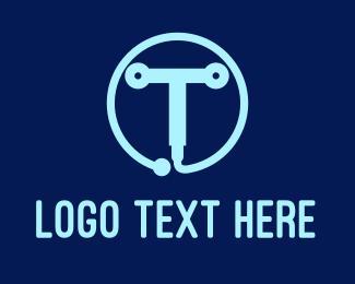 Metallic - Tech Letter T logo design