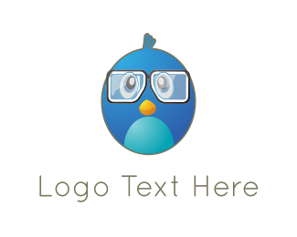 Cute Blue Bird Logo