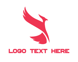 Alliance - Red Phoenix logo design
