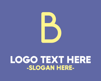 Baby - Bold Cute Yellow  B logo design