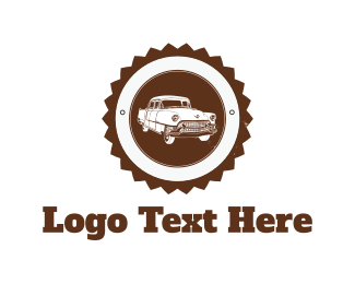 Vehicle - White Vintage Car logo design