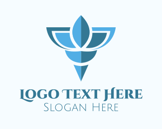 Dragonfly - Blue Shell logo design