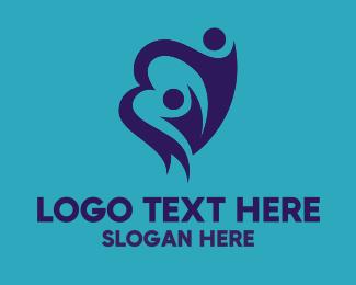 Mom - Child Heart logo design