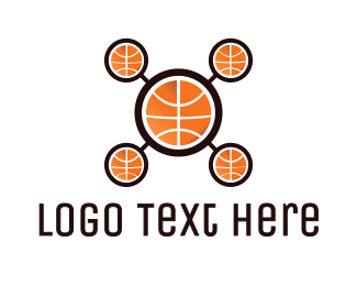 Electronic Device - Basketball Drone logo design