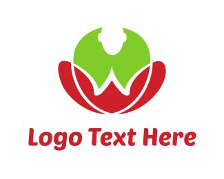 Harmony - Yoga Flower logo design