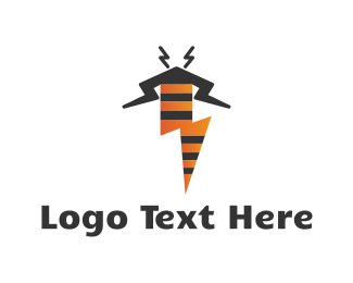 Wasp - Thunder Bee logo design