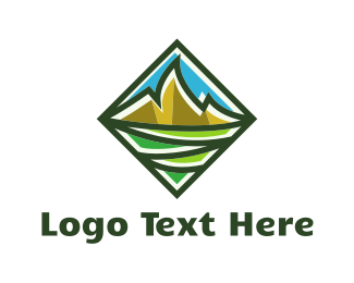 Green And Gold - Gold Peaks logo design