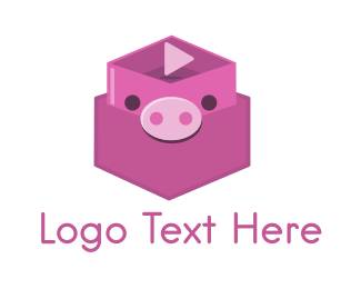 Film Studio - Pig Box logo design