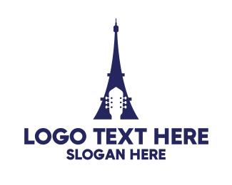Blue Eiffel Guitar Logo