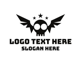 Bat - Bat Skull logo design