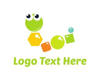 Geometrical - Geometric Worm logo design