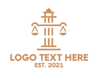 Law Firm - Weighing Scale Tower logo design