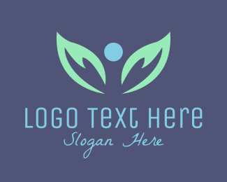 Hospice - Leaves Angel logo design