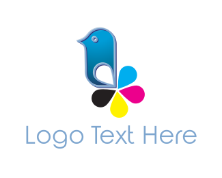 Ink - Cartridge Bird logo design