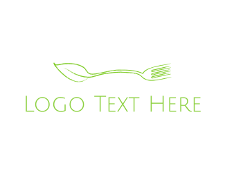 Spoon - Green Spoon Fork logo design