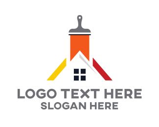 Maintenance - House Painter logo design