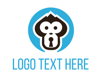 Cryptocurrency - Monkey Lock logo design