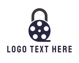 Movie Theater - Padlock Film logo design