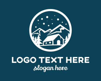 Everest - Snow Mountain  logo design