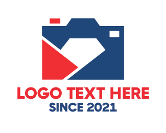 American - Camera Diamond logo design
