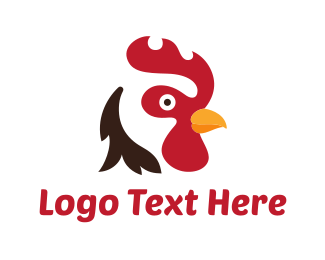 Farmer - Abstract Rooster logo design