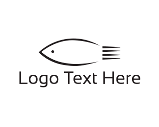Fish - Black Fish logo design