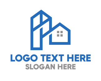 Land - Blue Tower House logo design