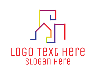 Skyline - Colorful Skyline logo design