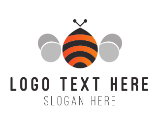 Bee - Round Bee logo design