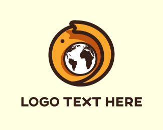 Trunk - Elephant Globe logo design
