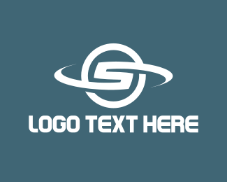 Text - White Letter S  logo design