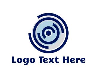 Labyrinth - Blue Record logo design