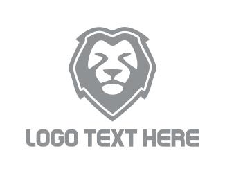 Strength - Grey Lion logo design