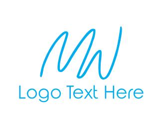 Letter W - M & W logo design