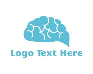 Psychology - Brain Cloud logo design