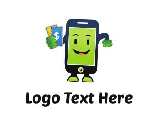 Dollar - Happy Smartphone logo design