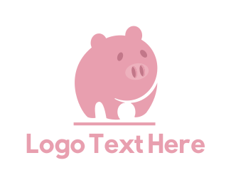 Pork - Pink Pig logo design