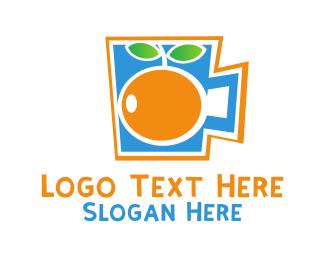 Blue And Orange - Summer Orange Cup  logo design