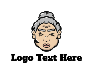 Mother - Old Woman logo design