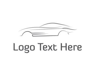 White - Grey Speed Car logo design