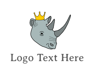 Africa - Rhino King logo design