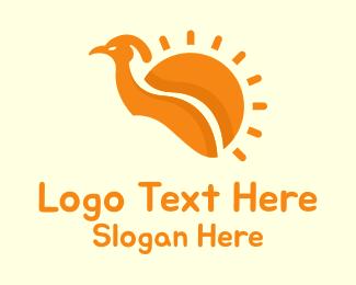 Peacock - Sun Bird logo design
