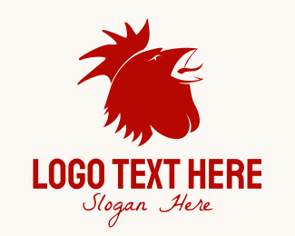 Farm - Red Rooster logo design