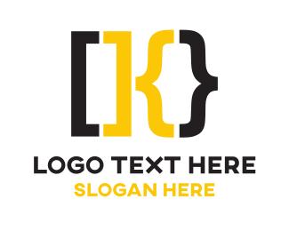 Code - Clever K Bracket logo design
