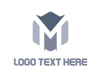 Grey - Peaks & Letter   logo design