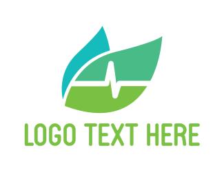 Pulse - Leaf Pulse  logo design