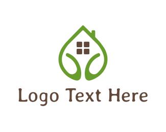 Hostel - Eco House logo design