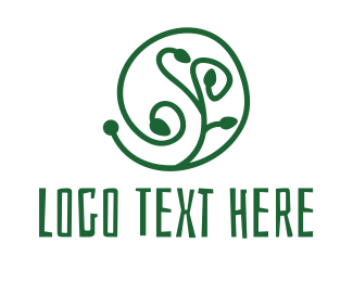 Stem - Green Plant logo design