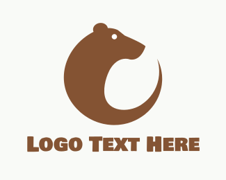 Teddy Bear - Round Brown Bear logo design
